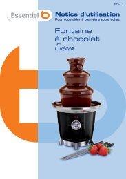 Essentielb Fontaine chocolat Essentielb EFC-1 CUENCA - notice