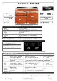 Falcon Piano de cuisson induction Falcon ELISE 110 INDUC NOIR BRILLANT - fiche produit