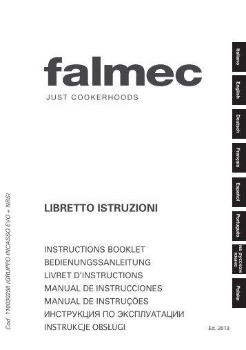 Falmec Groupe aspirant ou filtrant Falmec GRUPPO INCASSO - notice