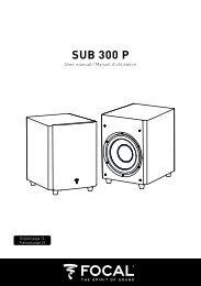 Focal Caisson de basse Focal Sub 300P noir - notice