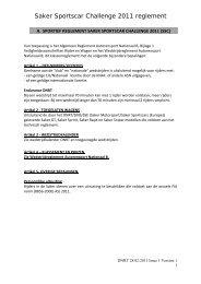 Saker Sportscar Challenge 2011 reglement - Knaf