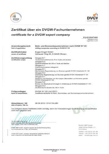 DVGW-W 120 - Eugen Engert GmbH