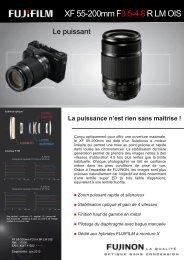 Fuji Objectif pour Hybride Fuji XF 55-200mm f/3.5-4.8 R LM OIS - fiche produit