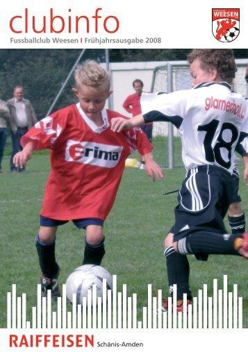 Wichtige Daten 2008 - FC Weesen