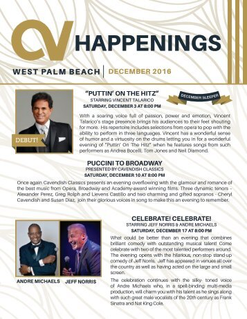 West Palm Beach December 2016 Happenings
