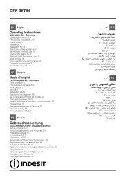 Indesit Lave vaisselle Indesit DFP 58T94 A EU - notice