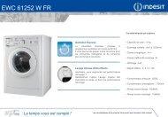 Indesit Lave linge hublot Indesit EWC 61252 W FR.M - fiche produit