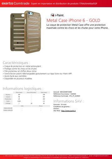 Ipaint Coque Ipaint iPhone 6/6s gold - fiche produit