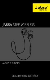 Jabra Casque intra Jabra Step noir - notice