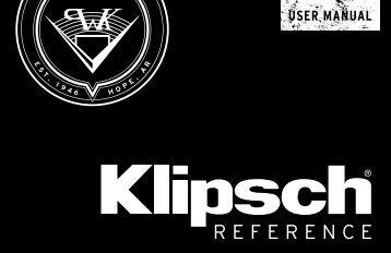 Klipsch Enceinte centrale Klipsch R-25C - notice