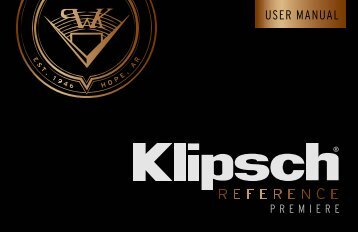 Klipsch Enceinte colonne Klipsch RP-280F EBONY - notice