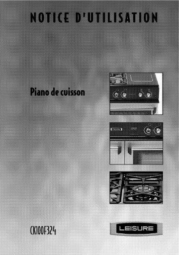 Leisure Piano de cuisson mixte Leisure CK100F324R - notice
