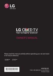 LG TV OLED LG 55EG920V OLED 4K CURVE - notice