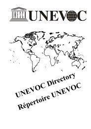 UNEVOC Directory Répertoire UNEVOC - Intervoc