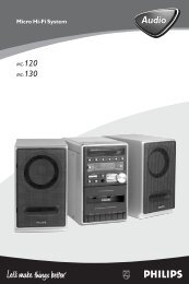 Philips Micro Hi-Fi System - User manual - FRA