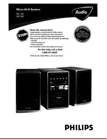 Philips Micro Hi-Fi System - User manual - AEN