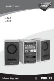 Philips Micro Hi-Fi System - User manual - FIN