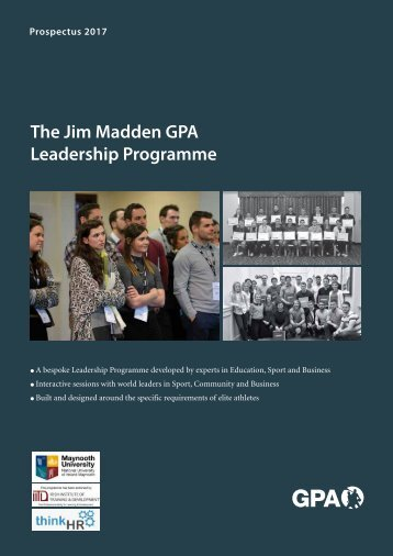 The Jim Madden GPA Leadership Programme