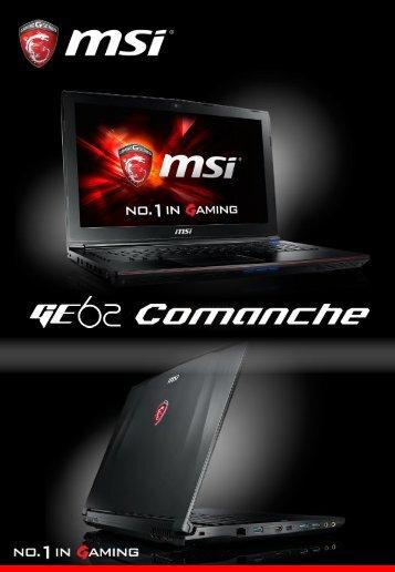MSI PC Gamer MSI GE62 2QC-644FR - fiche produit
