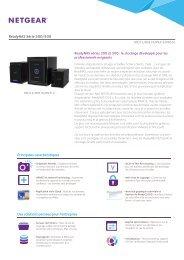 Netgear Serveur NAS Netgear Serveur ReadyNAS 312 Series - fiche produit