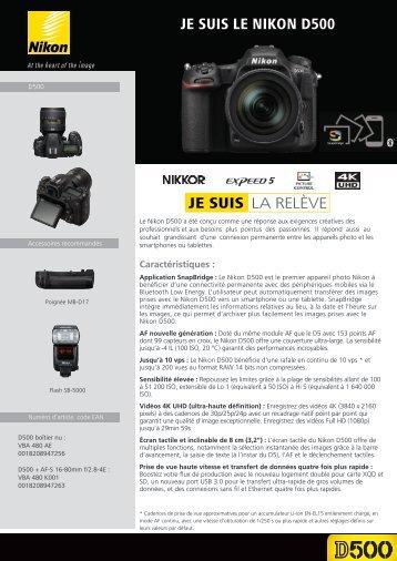 Nikon Appareil photo Reflex Nikon D500 Nu - fiche produit