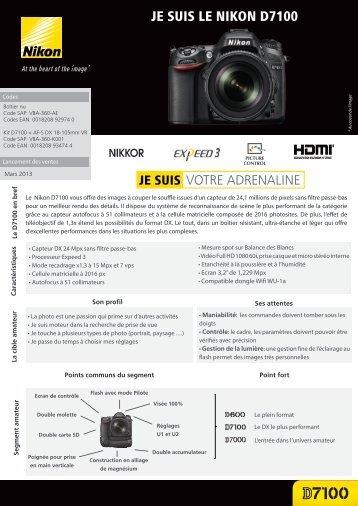Nikon Appareil photo Reflex Nikon D7100 Nu - fiche produit