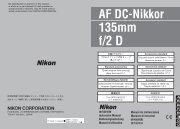 Nikon Objectif pour Reflex Nikon AF 135mm f/2D DC Nikkor - notice