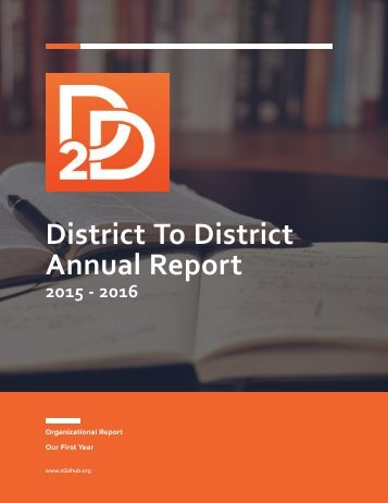 District To District Annual Report