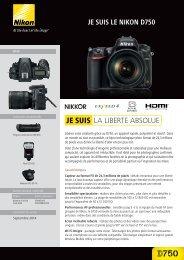 Nikon Appareil photo Reflex Nikon D750 Nu - fiche produit