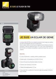 Nikon Flash Nikon SpeedLight SB-700 - fiche produit