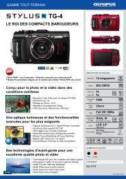 Olympus Appareil photo Compact Olympus TG-4 noir - fiche produit