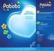 Pabobo Veilleuse Pabobo Automatique Blanche - notice