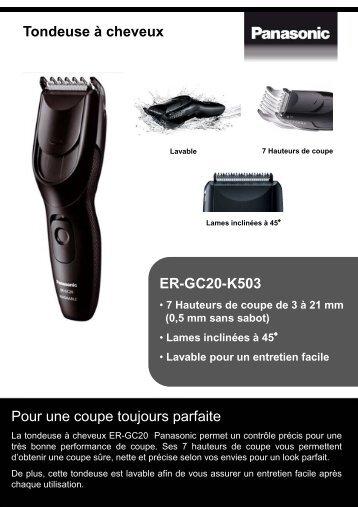 Panasonic Tondeuse cheveux Panasonic ER-GC20-K503 - fiche produit