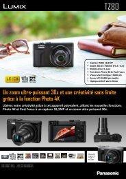 Panasonic Appareil photo Compact Panasonic DMC-TZ80 noir - fiche produit