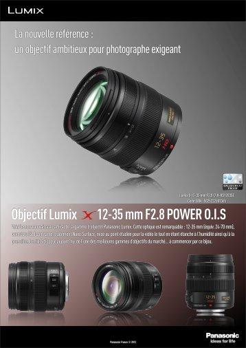 Panasonic Objectif pour Hybride Panasonic 12-35mm f/2.8 OIS Lumix G X Vario - fiche produit