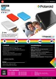Polaroid Imprimante photo Polaroid ZIP noire - fiche produit