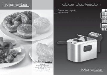 Riviera Et Bar Friteuse Riviera Et Bar QD574A Friteuse inox digitale - notice