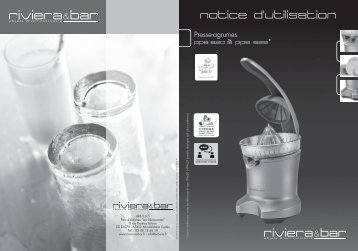 Riviera Et Bar Presse-agrumes Riviera Et Bar PPA620 Gris Silver - notice
