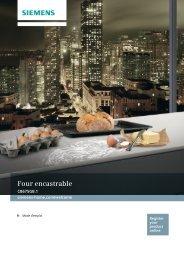 Siemens Four Encastrable Siemens CB675GBS1 - notice