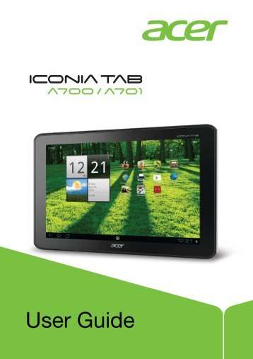 manual acer iconia a3 rh yumpu com Acer Iconia Tab A500 Case Acer Iconia Tab A500 Specs