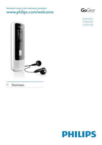 Philips GoGEAR MP3 player - User manual - FIN