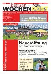 Download der Ausgabe vom 10. Juni 2011 - Berner Wochenpost