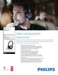 Philips Noise Cancelling Headphones - Leaflet - AEN