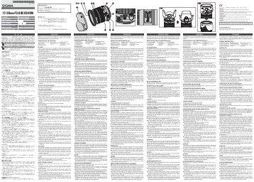 Sigma Objectif pour Reflex Sigma 17-50mm f/2.8 EX DC OS HSM Nikon - notice