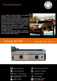 Simogas Plancha gaz Simogas SILVER-75-ACIER - fiche produit