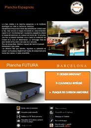 Simogas Plancha gaz Simogas FUTURA-60-ACIER - fiche produit