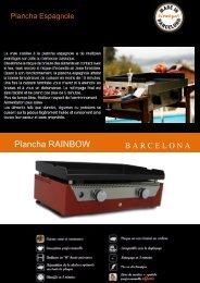 Simogas Plancha gaz Simogas RAINBOW Orange - fiche produit