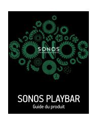 Sonos Barre de son Sonos PLAYBAR - notice