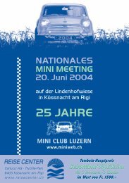 NATIONALES MINI MEETING 20. Juni 2004 - Mini Club Luzern
