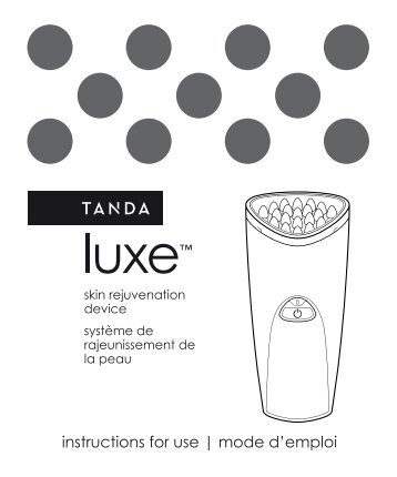 Tanda Appareil anti rides Tanda LUXE LIGHT - notice
